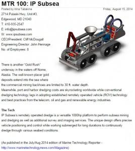 MTR100 Finalist-IP Subsea