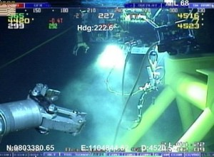 ROV on well